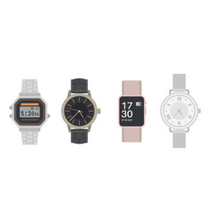 wrist watch men and women mechanical digital vector image
