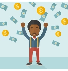 Young and cheerful african man vector image