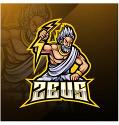 Zeus sport mascot logo design vector