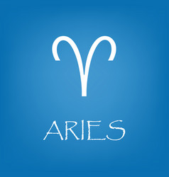 aries zodiac sign icon simple vector image