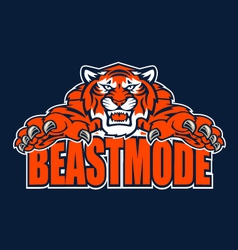 beastmode tiger vector image vector image