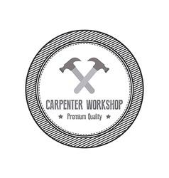 Carpenter label vector image vector image
