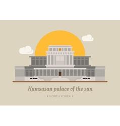 Kumsusan palace of the sun North Korea eps10 v vector image