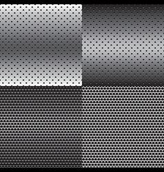 Metal Texture Background Set vector image