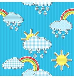Rain pattern vector image vector image