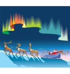 Santa Claus background vector image vector image