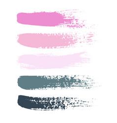 Set of grunge brush strokes set of vector