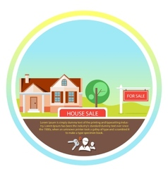 Sold home for sale sign vector image
