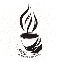 aroma cup of coffee with vector image