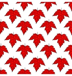 Autumn seamless leaf pattern 8 vector image vector image