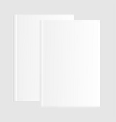 blank empty magazine template vector image