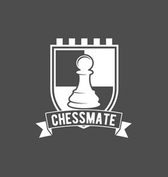 chess labels badges and design elements vector image vector image