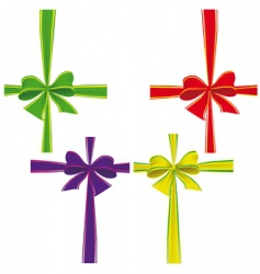 colorful ribbons vector image vector image