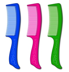 Comb eps10 vector image vector image