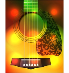 guitar closeup vector image