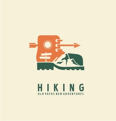 Hiking logo design template vector image vector image