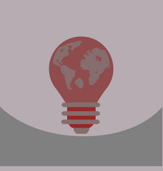light save planet on ecology style lamp with map vector image