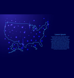 map of the united states of america vector image
