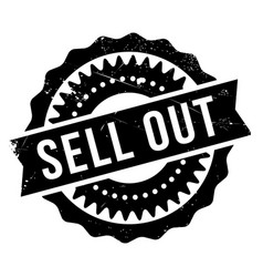 sell out rubber stamp vector image vector image