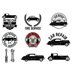 Set of Retro car club labels vector image vector image