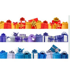 Set of shopping banners with gift colorful boxes vector image vector image