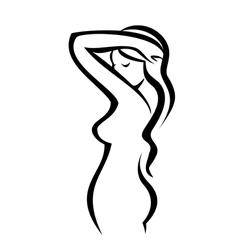 female figure silhouette vector image