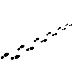 footprints from shoes vector image