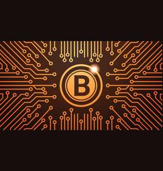 golden bitcoin digital currency web money concept vector image