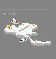 map thailand isometric concept vector image vector image