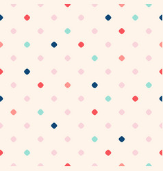 retro vintage polka dot seamless pattern texture vector image
