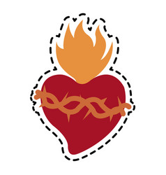 sacred heart icon image vector image vector image