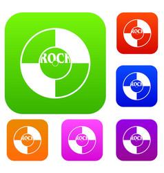 vinyl set color collection vector image vector image