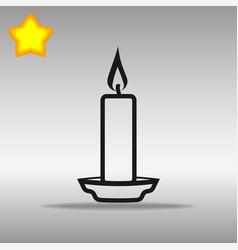 Black candle icon button logo symbol concept vector