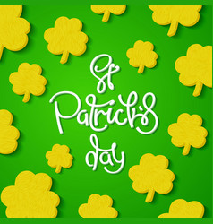 creative st patricks day background vector image
