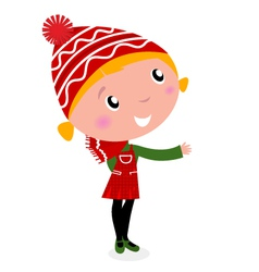 cute christmas cartoon vector image