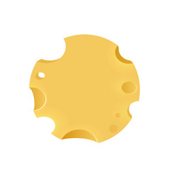 emblem with porous cheese round form vector image vector image