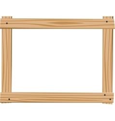 Empty Wooden frame vector image vector image