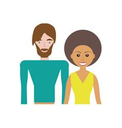 ethnic couple romantic image vector image vector image