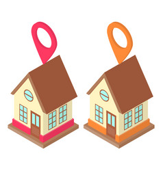 home location concept vector image