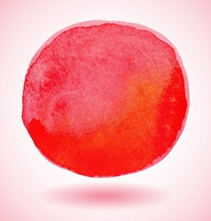 Red watercolor paint circle vector image vector image