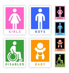 Toilet colored stickers new set vector image vector image