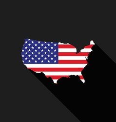 USA America flag map flat design icon vector image