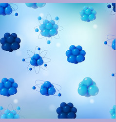 3d abstract scientific background vector image