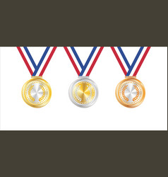 a gold silver bronze badge vector image