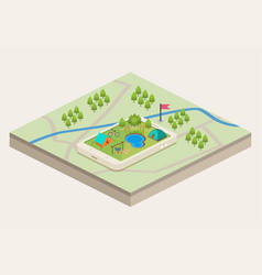 A mobile map of a campsite vector