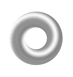 abstract dotted halftone circle pattern vector image
