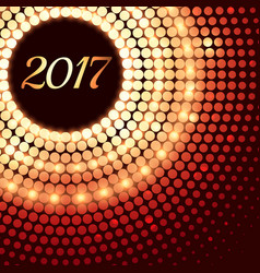 abstract shiny 2017 background with dot effects vector image