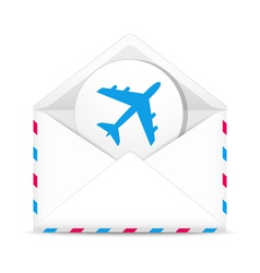 Air mail envelope vector