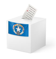 Ballot box with voting paper Northern Mariana vector