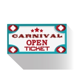 Banner ticket of carnival design vector